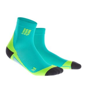 Cep Compression Short Socks Men Lagoon/Lime