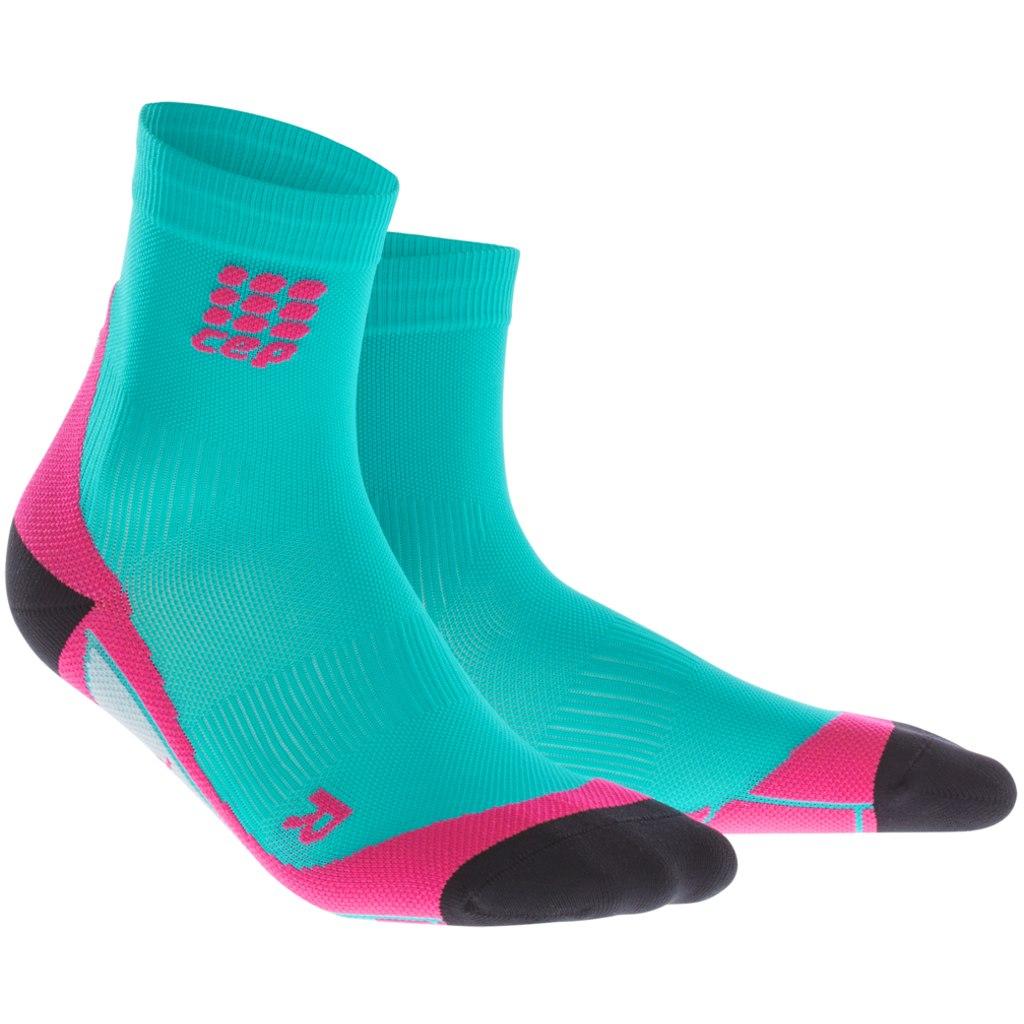 γυναικείες κάλτσες Cep Compression Short Socks Women΄s Lagoon Pink a9600966405