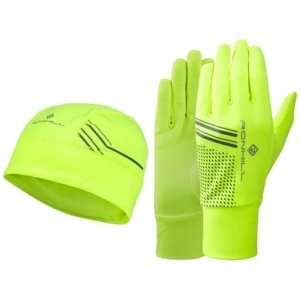 ronhill-running-beanie-and-glove-set-fluo-yellow-black
