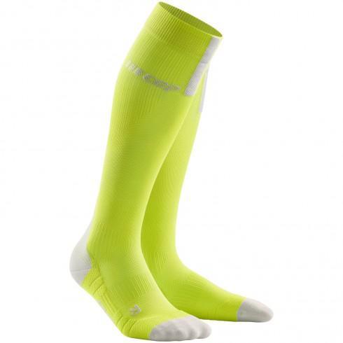 κάλτσες συμπίεσης run_socks_3.0_lime_light_grey_