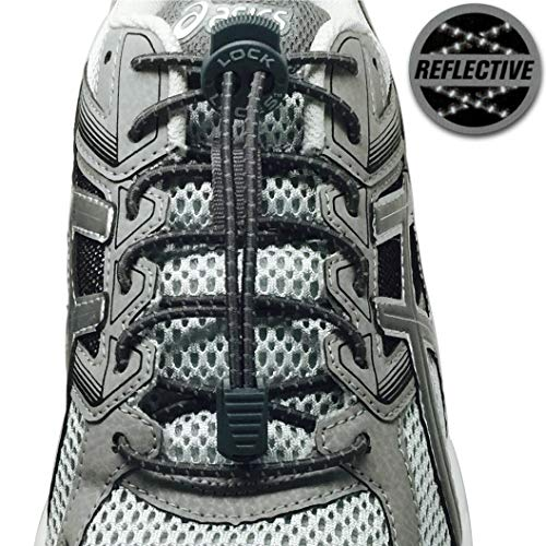 Lock Laces Reflective Storm Gray