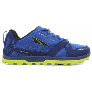 Altra Lone Peak Junior/Youth Trail Running Shoes Blue/Lime